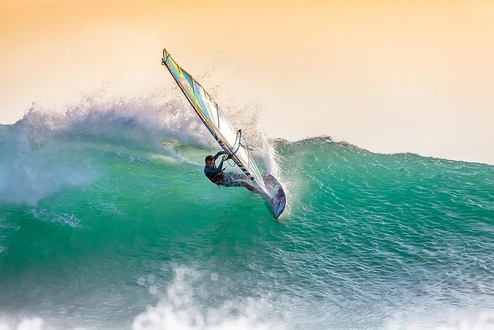 man surfing in the ocean