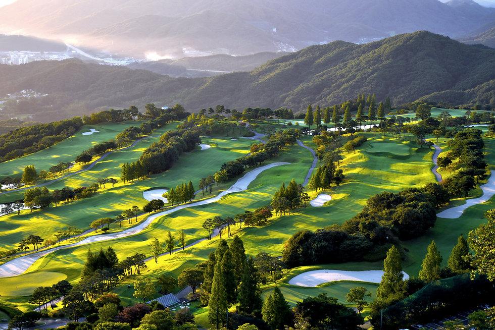 Bird-Eye View Of Golf Course