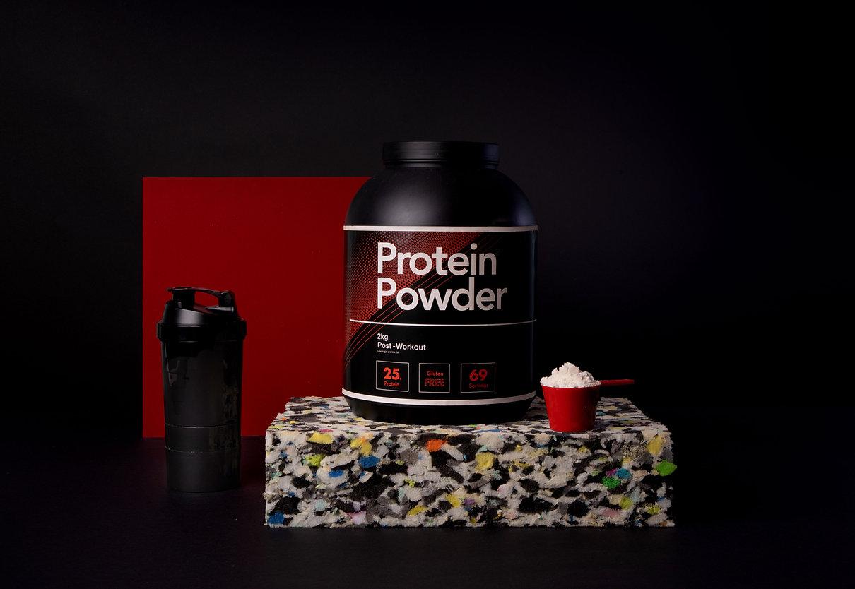 Pot de protéines