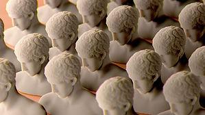 Sculptures in Rows
