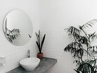 Round Sink and Mirror