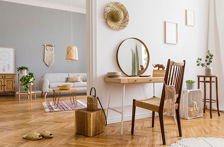 Wooden Floor and Furnitures