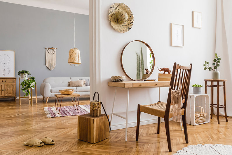 Wooden Floor and Furnitures