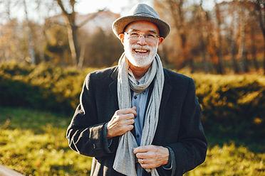 Hombre con bufanda