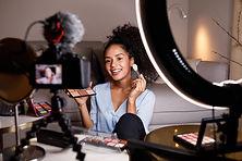 Sessão de fotos de maquiagem