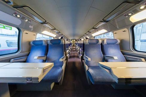 All'interno di un treno