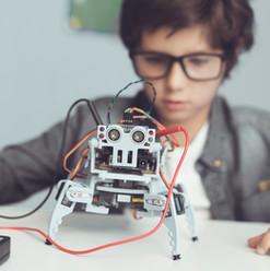 Boy with DIY Robot