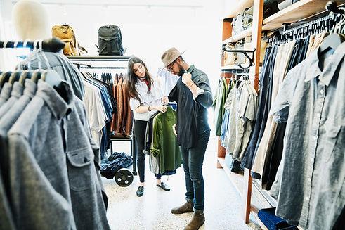 Kleider einkaufen