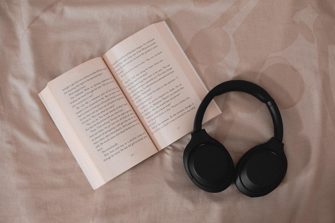 Book and Headphones