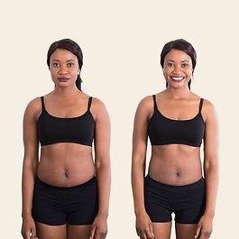 Vrouwen in zwart ondergoed