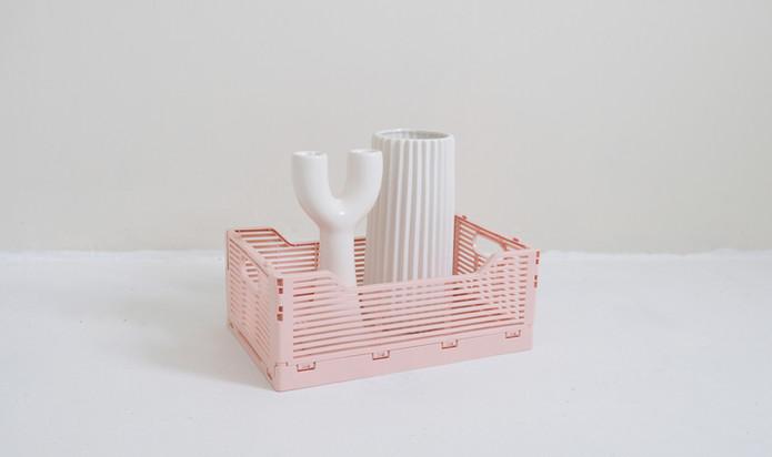 Vases à fleurs blanches