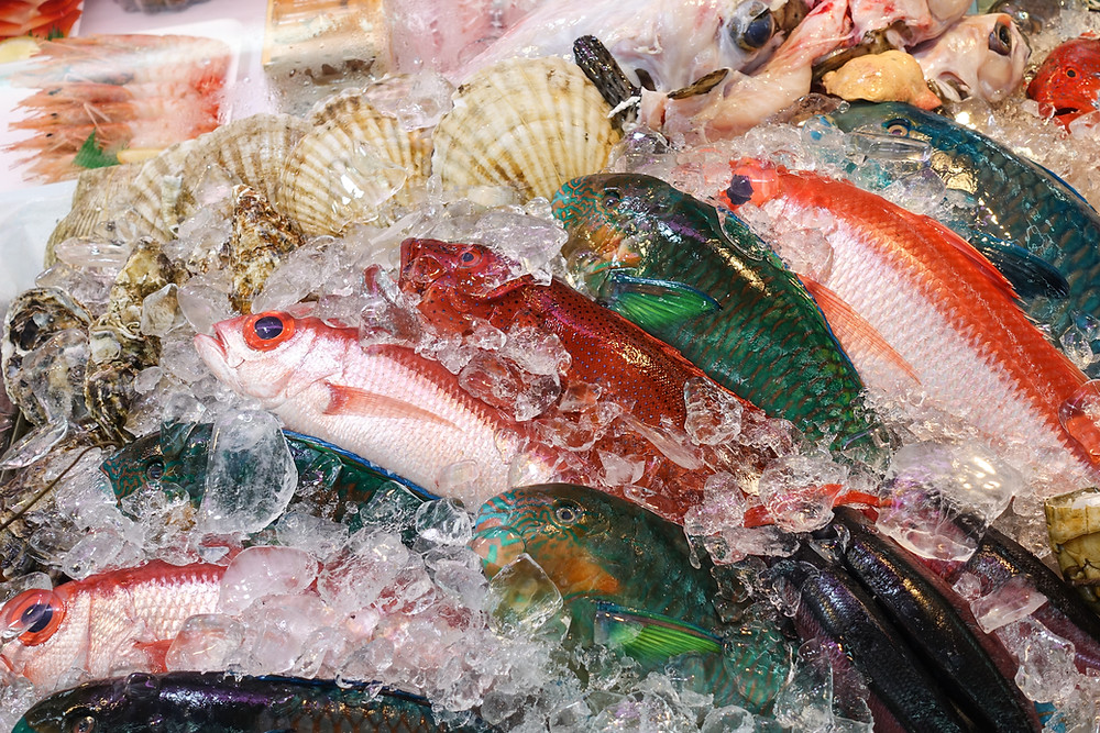 A selection of fresh seafood