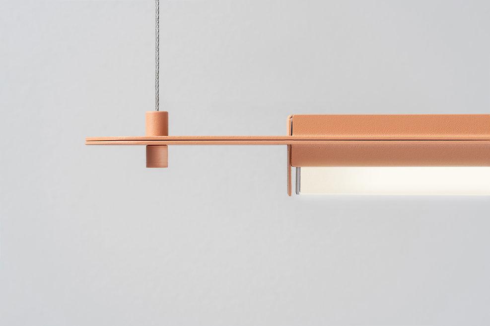 Metalowa lampa ledowa