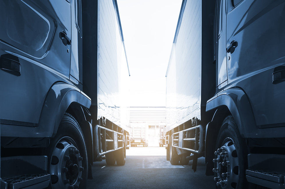 Lorries Parked In Line