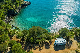 Campeggio sul mare