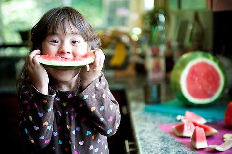 Wassermelone essen