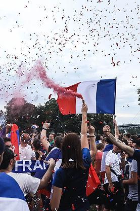 Célébration de la victoire française
