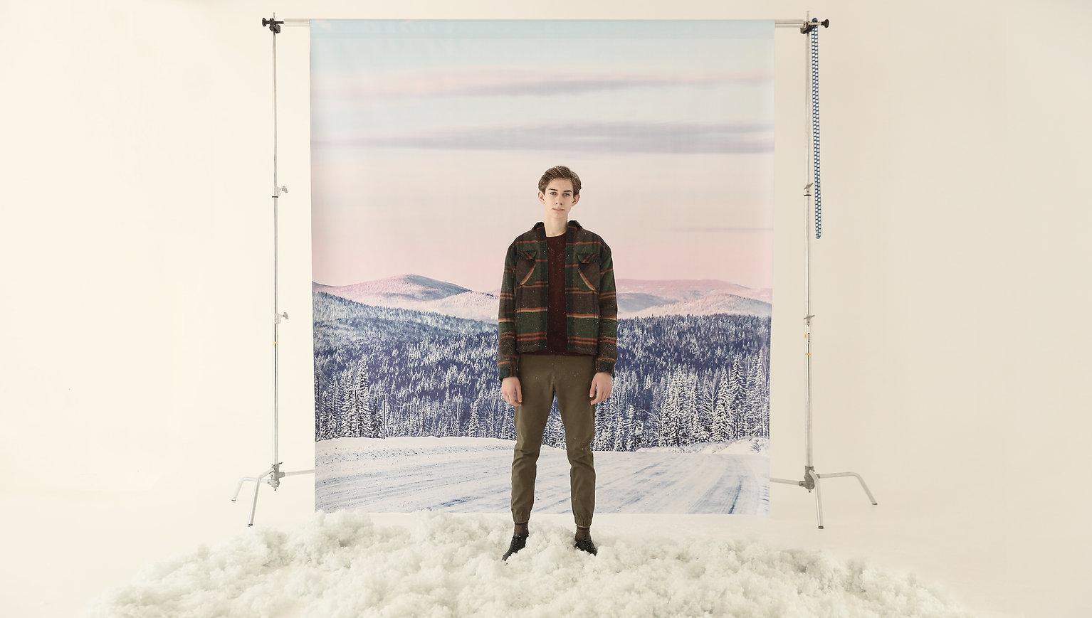 Winter Studio Portrait