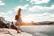 Woman Looking at Beach