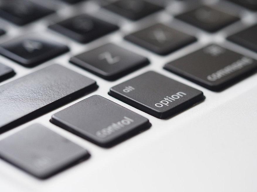 Closeup klávesnice