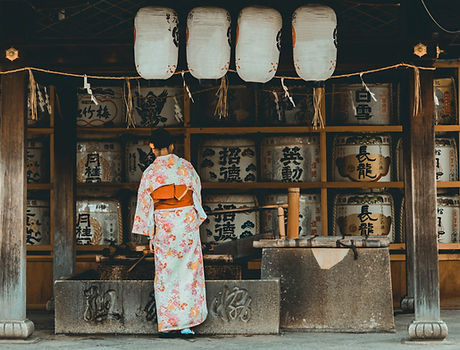 Sake Barrel Shrine