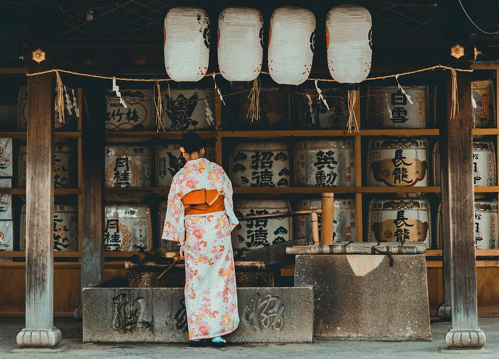 Sake Barrel Shrine