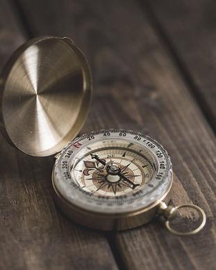 Kompass nach Norden