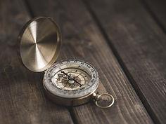 Kompass, der peger mod nord
