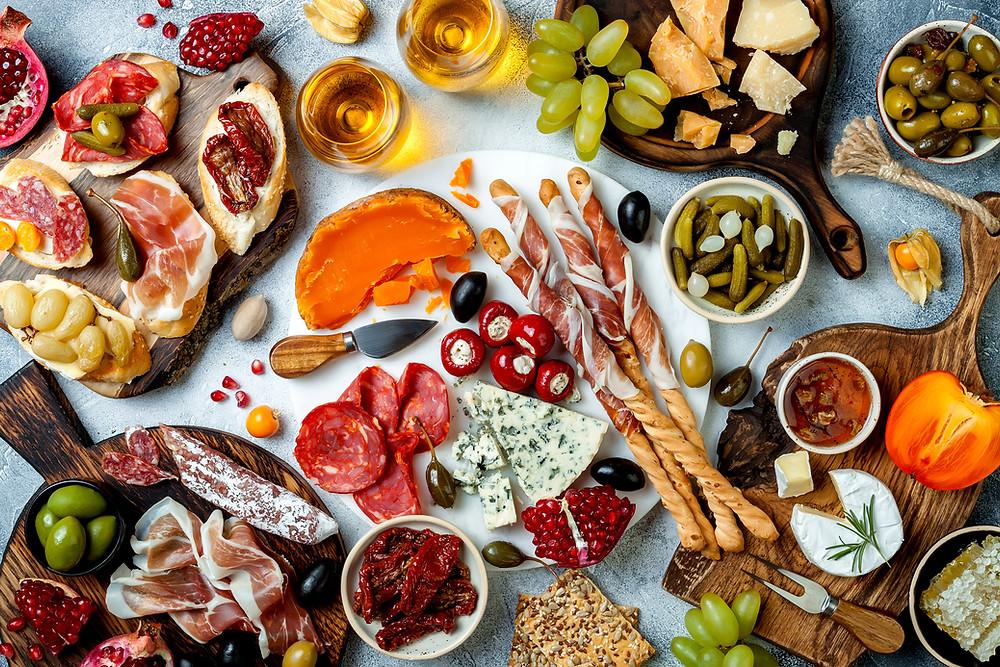 appetizer tablescape