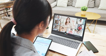 Person Participating in Video Call