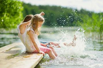 Spritzendes Wasser