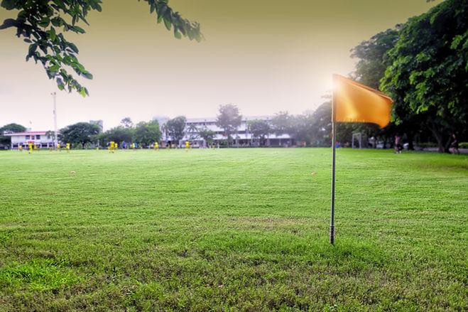 スポーツフィールドの旗