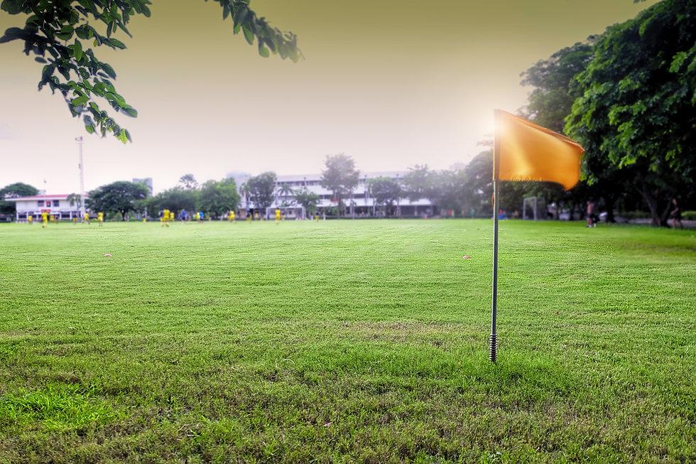 Bandera del campo de deportes