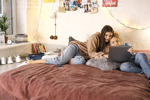 Teenagers on Laptop