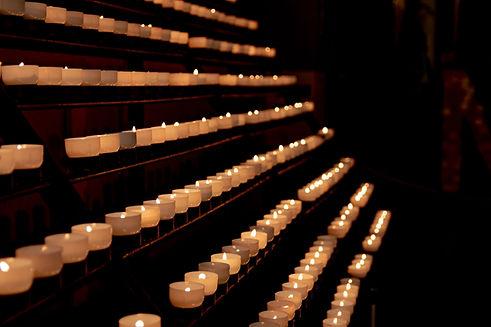 bougies de prière