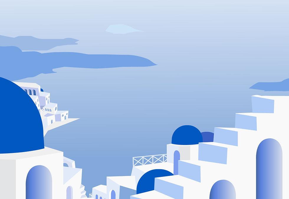 Pintado isla griega