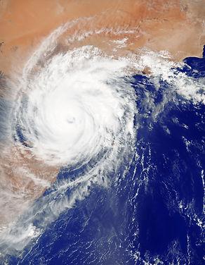 Mapa do furacão