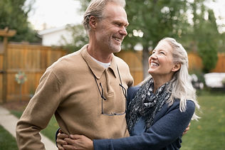 Older Couple Smiling Together | Angel Heart Home Care | The Best Care for Your Loved Ones