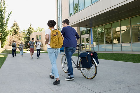 University students on campus. Study at university