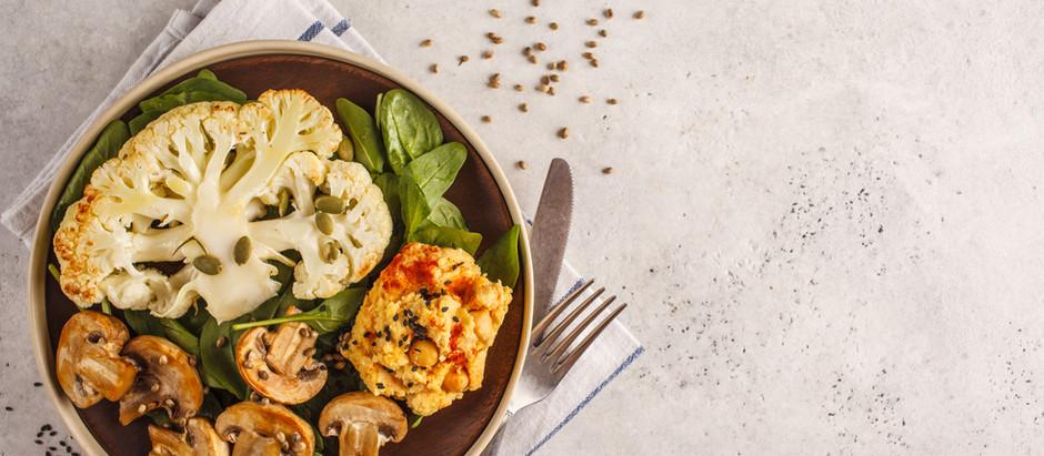 Roasted Cauliflower with a Walnut & Herb Crust