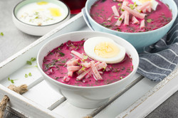Beetroot Soup with Eggs