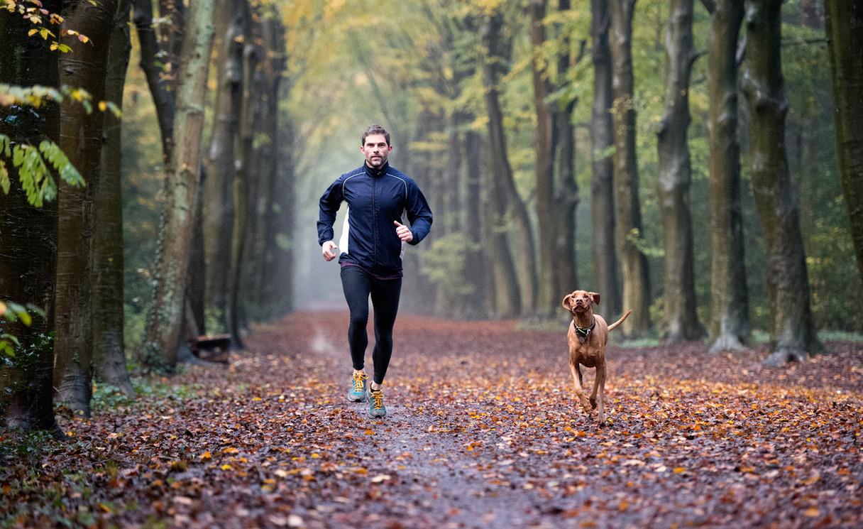 Jogger met hond