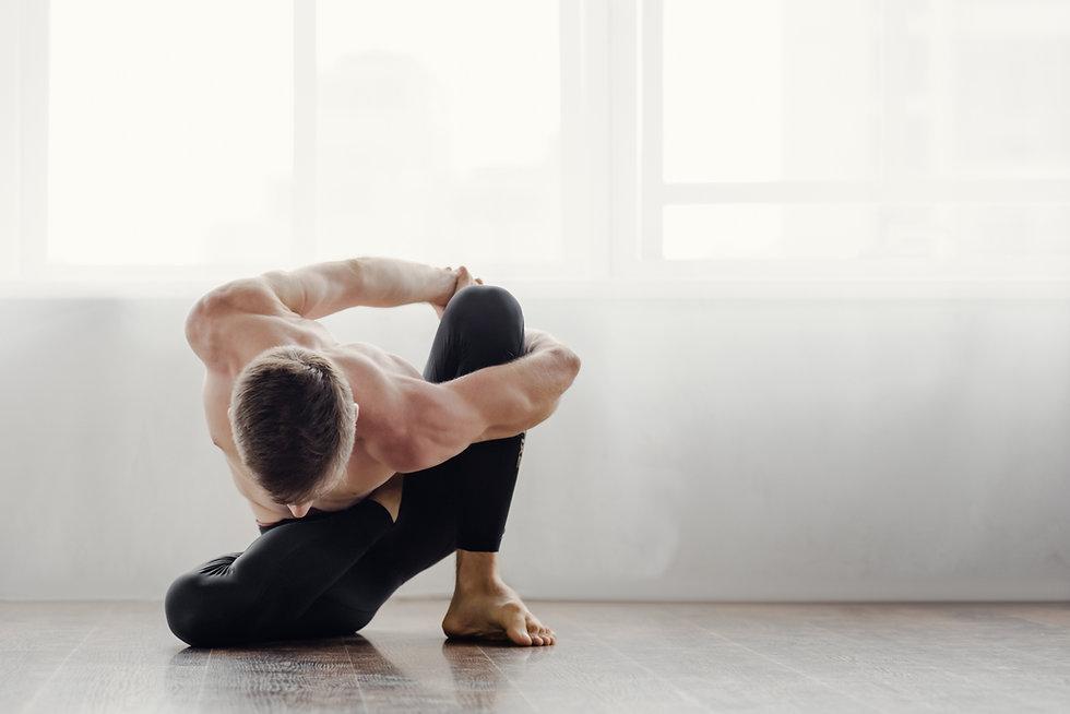 Man Stretches