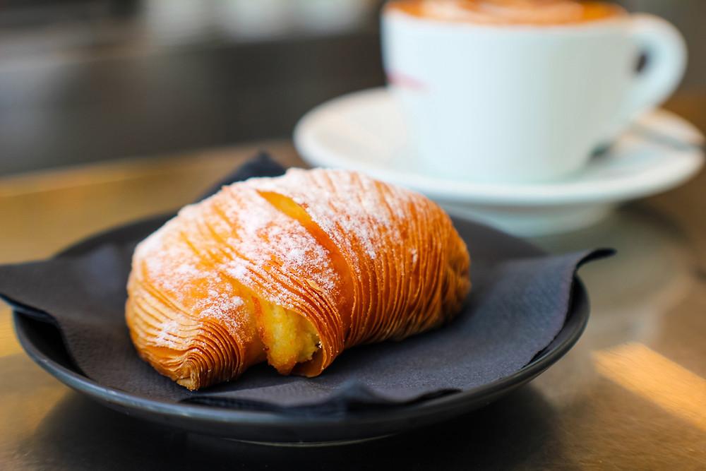 croissant sweet savoury coffee
