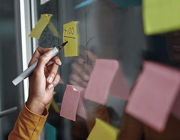 Sticky Notes on Board