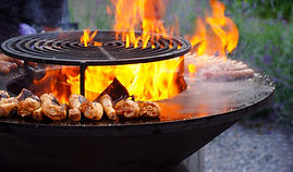 Flaming Barbecue Meat