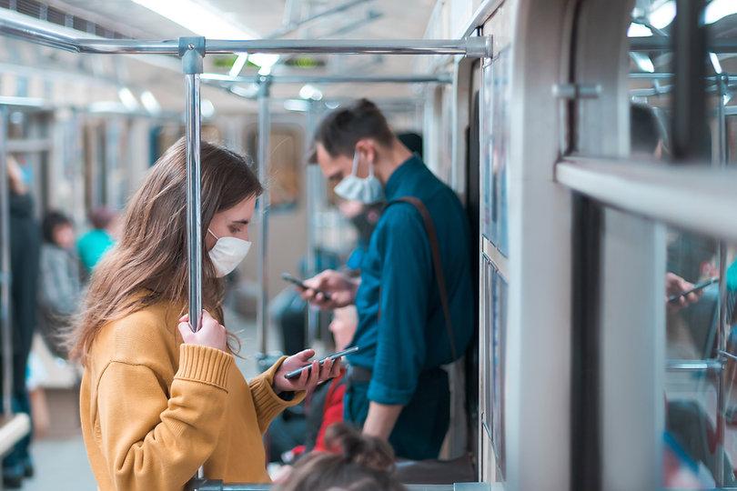 Máscaras en el transporte público