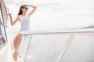 A women on board a yacht