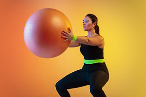 Workout with Fit Ball