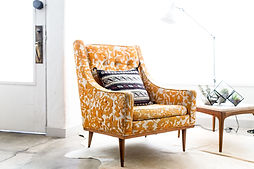 Embroidered Yellow Chair